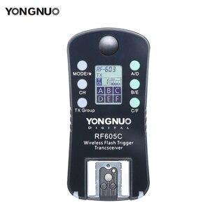 Image 2 - 3pcs YONGNUO RF 605 Wireless Flash Trigger RF 605C RF605C RF605N RF 605N  for Canon Nikon upgrade version of RF 603II