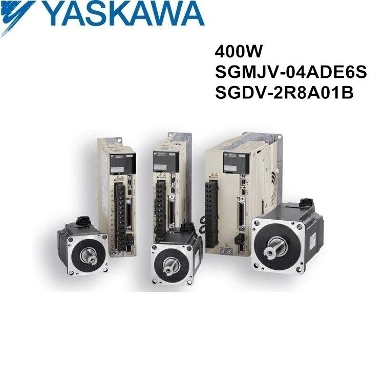 SGMJV-04ADE6S+SGDV-2R8A01B 400W servo motor and driver new and original Yaskawa SGMJV series servomotor and servopack