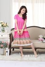 2017 Hot Sale Promotion Round Neck None Gecelik Small Fresh Fabric Nightgown Female Plus Size Sleepwear