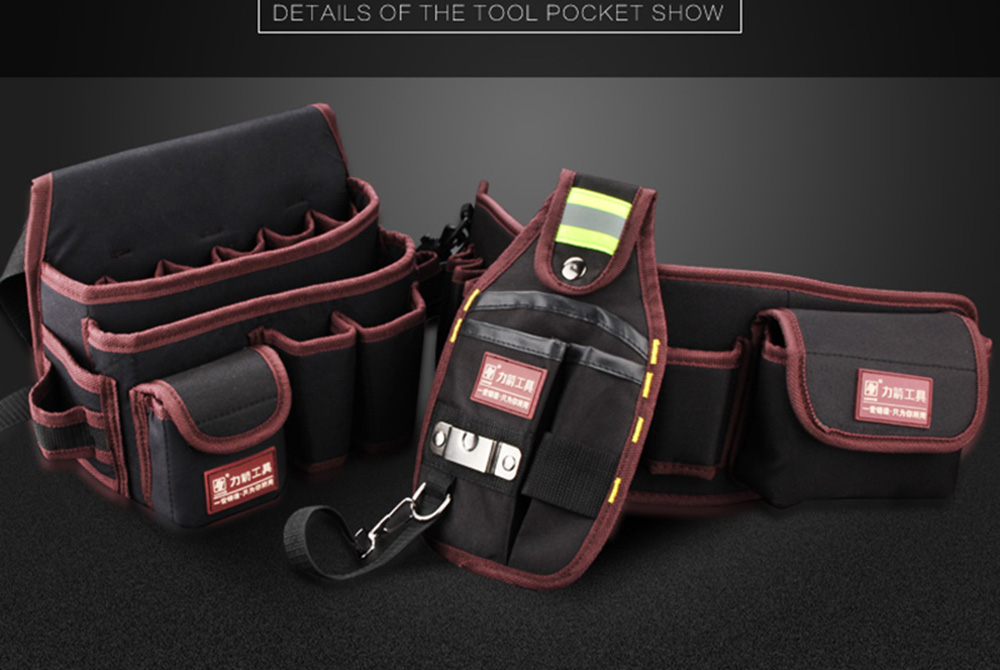 Multi-functional Water proof Cloth Rivet fixed Tool Bag (2)