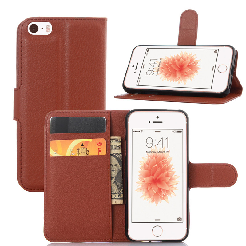 Flip Cover For Apple Iphone 5s 5 Case PU Leather Luxury