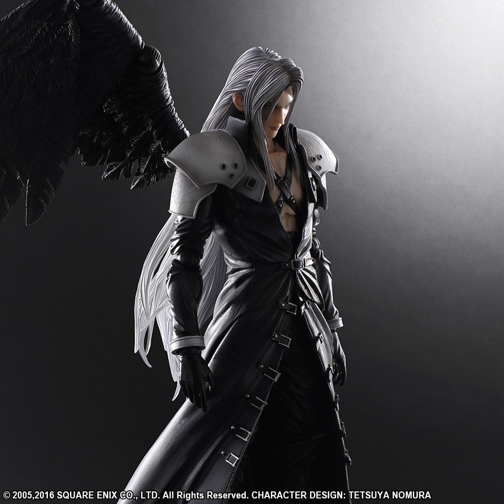 Play Arts <font><b>Final</b></font> <font><b>Fantasy</b></font> <font><b>7</b></font> Sephiroth Action Figure Collectible Model Toy 25CM for chind image