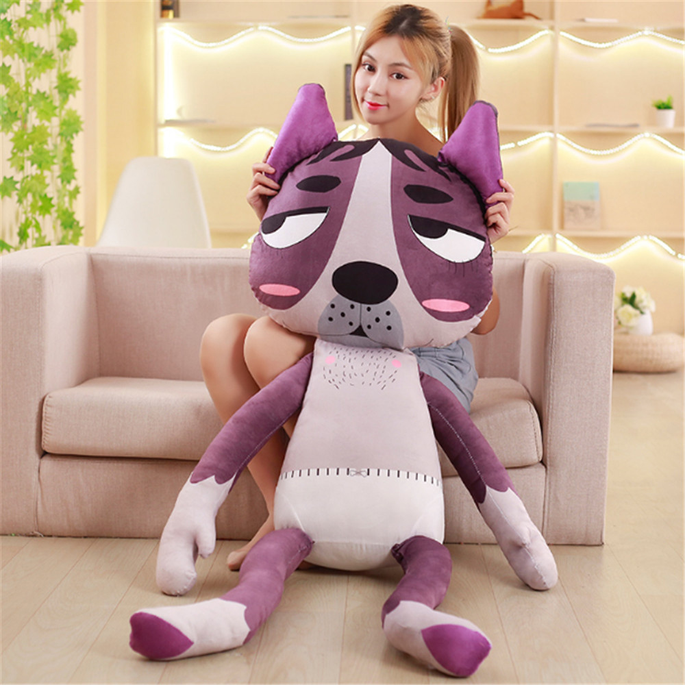 Fancytrader Anime Funny Plush Pillow Doll Big Stuffed Soft Dog Toys Creative Home Decoration Gifts 140cm 55inch