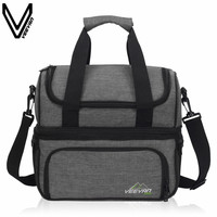 VEEVANV New Insulated Lunch Cooler Bags Food Family Function Picnic Bag Large Storage Shoulder Bag Tote