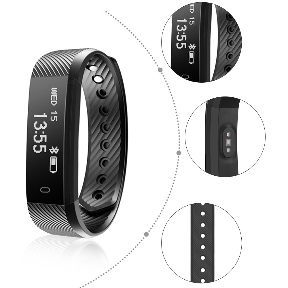 OGEDA Women Smart Fitness Watch Heart Rate Monitor Smart Band ID115HR Wristband Bracelet Activity Tracker for Xiaomi iPhone