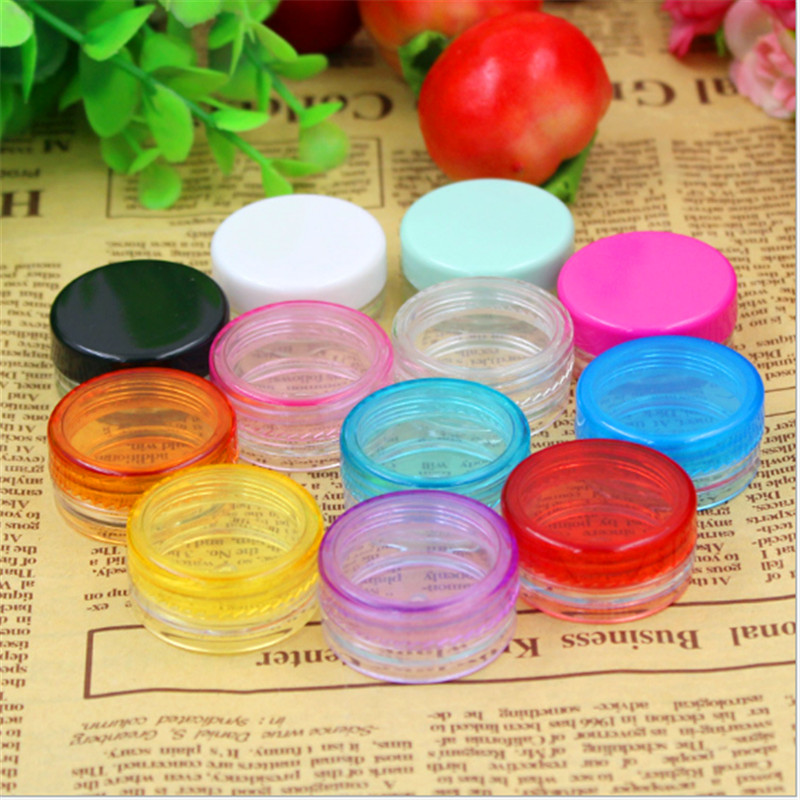 10Pcs 3g Cosmetic Empty Jar Pot Eyeshadow Makeup Face Cream Container 4 Colors 10pcs 5g cosmetic empty jar pot eyeshadow makeup face cream container bottle acrylic for creams skin care products makeup tool