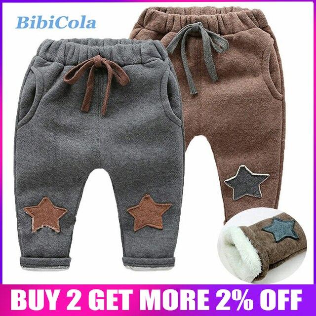 eaa97ecc6d430 BibiCola children boys pants winter warm thick trousers little boys casual leggings  kids fleece velvet pants bebe sport outfits