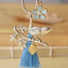 Женское винтажное ожерелье ручной работы в стиле ретро длинное