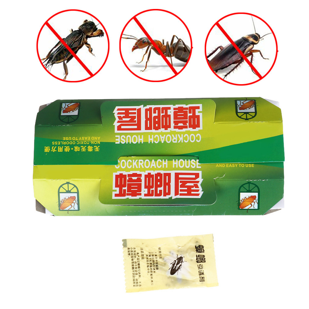 Killing Cockroach House Glue Sticky Bait  Eco- Friendly Non Toxic Capture Device Catcher Traps Pest Repellent Insect Repeller