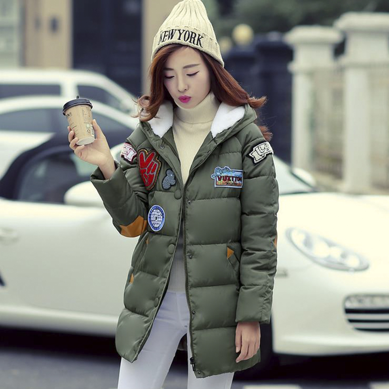 2016 Winter Thick down warm female jacket coats women's Hooded cotton-padded skirt coat Parkas Wadded cotton-padded jackets coat