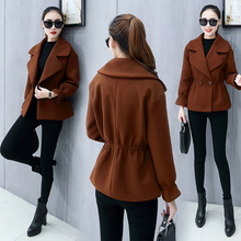 Autumn and winter short woolen cloth coat no in late autumn