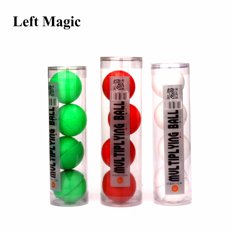 Deluxe Multiplying Balls (White/Red Avaliable,43mm) One To Four Balls Soft Magic Tricks Stage Props Comedy Gimmick Illusion