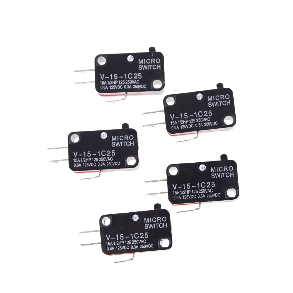 5pcs/lot 250V 16A Microwave Oven Door Arcade Cherry Push Button SPDT 1 NO 1 NC Micro Switch V-15-1C25(China)