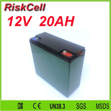 Free shipping Deep Cycle Lithium Battery 12V 20Ah for Solar Street Lights/ /LED Light/ Electric electtric bike battery