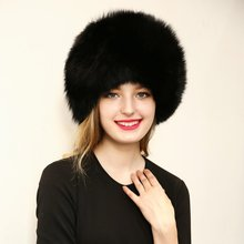Winter Warm Women Raccoon Leather Fur Hats Warm Caps Female Headgear Fox Fur Ball New Sale