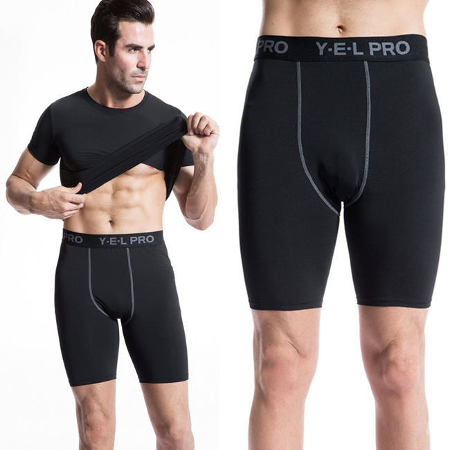 PRO mens Sports Fitness Running Training Shorts perspiration wicking tight pants shorts