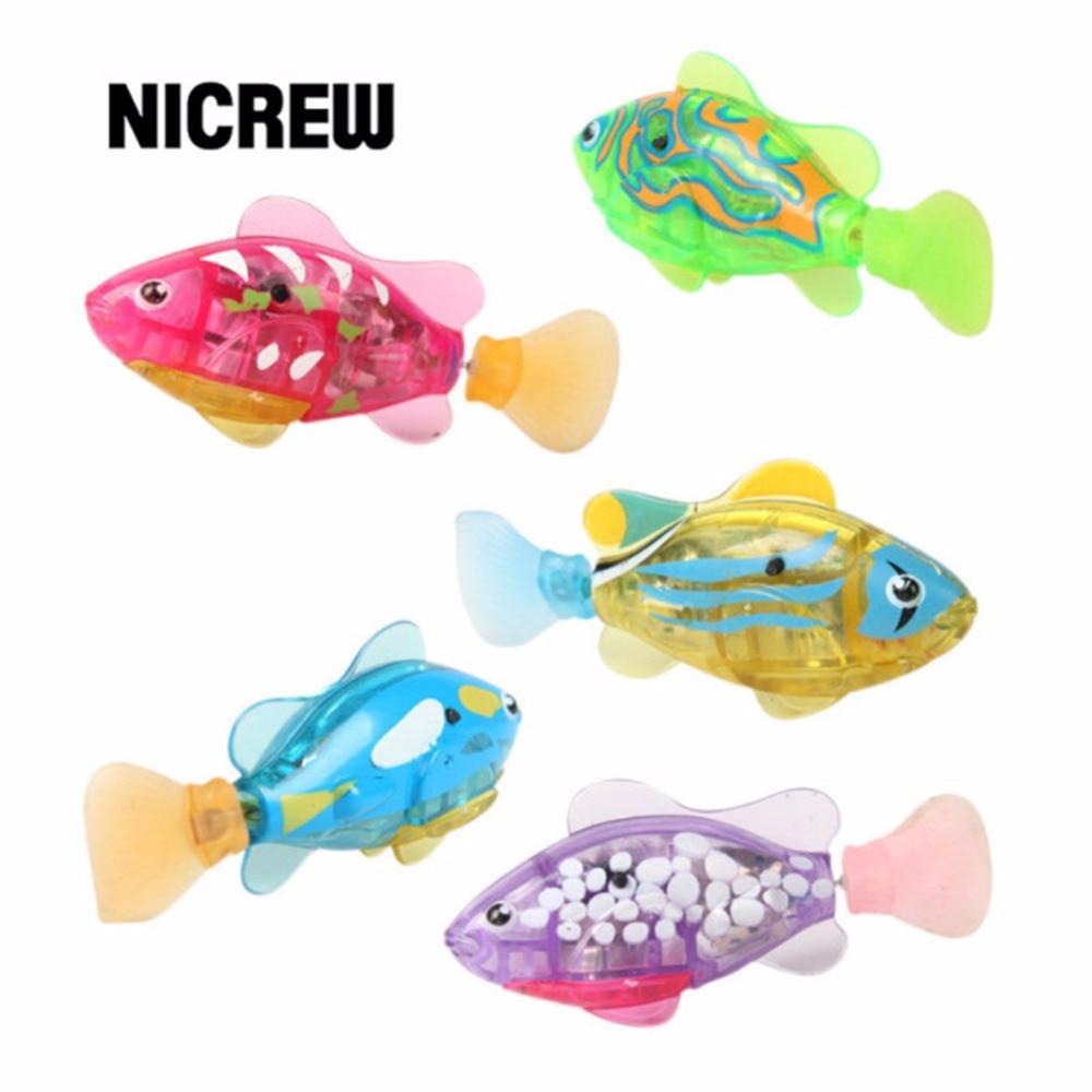 Fish aquarium price list - Nicrew Ornament Child Cat Dog Toy Robot Fish Bionic Electric Fish Smart Senor Turinng Diving Floating