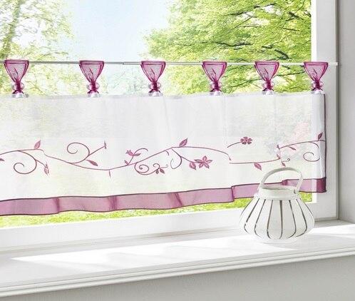 Mooie spaghetti bloem korte kleine koffie keuken gordijn cortinas ...