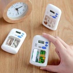 Мини Портативный устройство для напоминания о приеме таблеток наркотиков Будильник с таймером электронный ящик организатор светодиодный