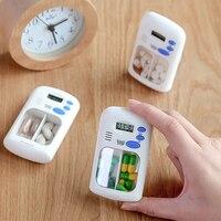 Mini portátil pílula lembrete droga alarme temporizador eletrônico caixa organizador display led despertador lembrar pequeno kit de primeiros socorros|Kits de emergência| |  -