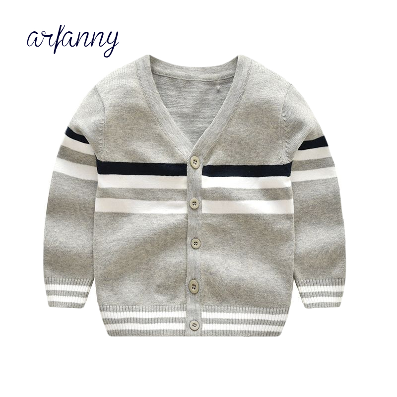 Boys Sweater 1 2 3 4 5 6 year Baby knit V neck stripe Girls Coat clothes  soft Autumn and winter quality100% cotton sweater Kids Sweaters  -  AliExpress