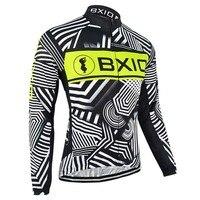 BXIO Hiver Thermique En Laine Polaire Vélo Clothing VTT Hommes Vélo Jersey Chaud À Manches Longues Automne Vélo Clothing Maillot Ciclismo 049