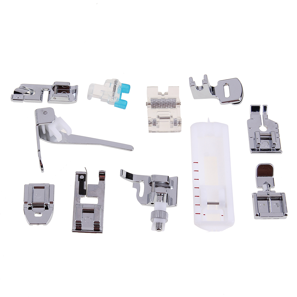 11pcs Sewing Machine Presser Feet Multi-function Domestic Household Sewing Machine Blind Stitch Feet Set Sewing Machine Parts