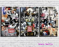 Collage Montage New Modern Graffiti London Waterloo Canvas Painting Living Room Home Decor Modern Mural Art Oil Painting