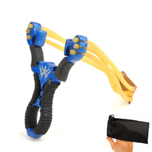 1PCS Powerful Alloy Slingshot Hunting Stainless Steel Thick Wrist Band Catapult Sports