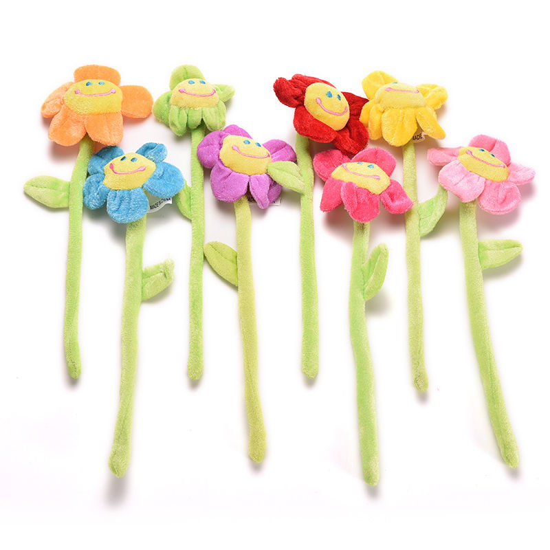 Cartoon Curtain Clip Sunflower Plush Flexible Tieback Toy Home Dcor Lovely Girls Gift