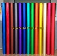 15 Colors ICE Satin Chrome Xe Vinyl Wrap Phim Bong Bóng Miễn Phí xe Wrapping Styling Vinyl Blue & Green & Red & Gold