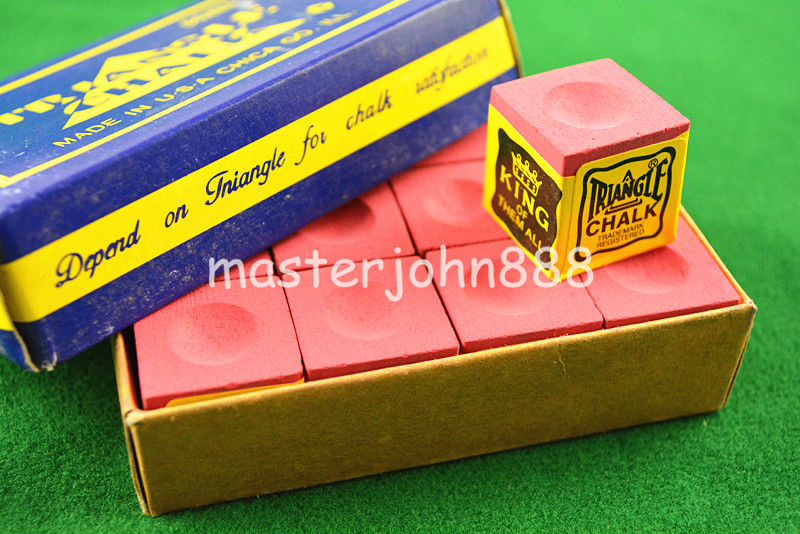 Sports & Entertainment ... Entertainment ... 32615244040 ... 4 ... 2pcs OF TRIANGLE MASTER Pool Billiards Snooker Chalk Cubes Chalk Green/Blue/Red Free Shipping ...