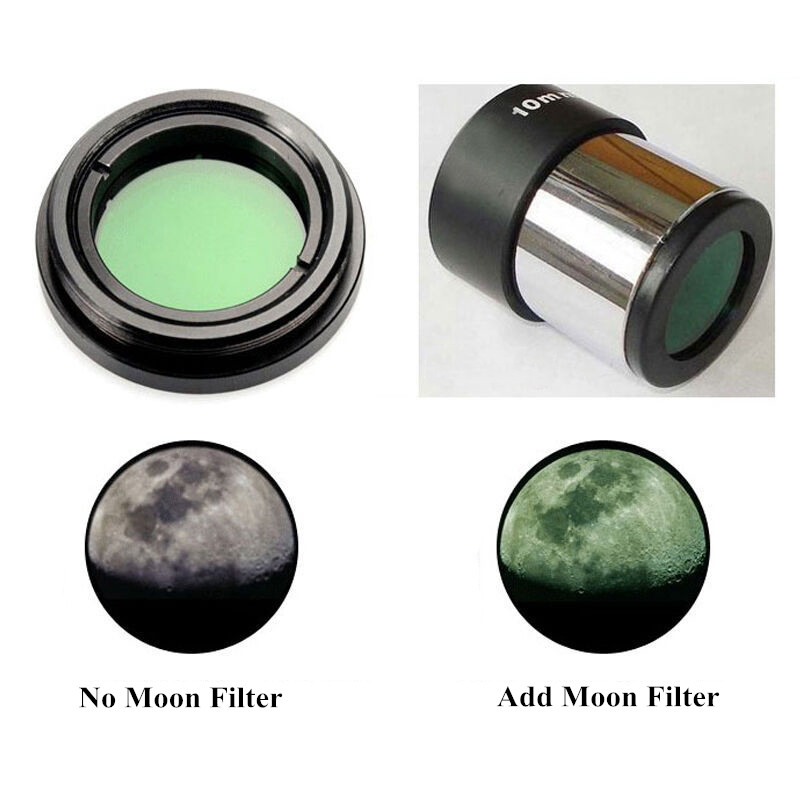 "Купить с кэшбэком Astronomical Telescope Accessories 0.96"" / 1.25"" Green Moon Filters Full-metal Standard Thread for Astro Optics Eyepiece Lens"