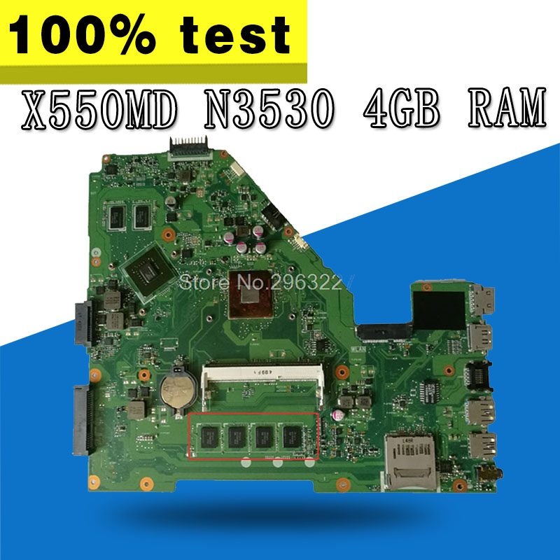 все цены на X550MD Motherboard GT920M N3530 4GBRAM For ASUS X550M X552M Y582M laptop Motherboard X550MD Mainboard X550MD Motherboard test ok