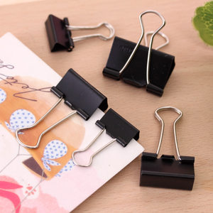 Paper-Clip Clip-Product Notes Office-Supplies Metal Black 10pcs/Lot Letter Securing 19/25/32-mm