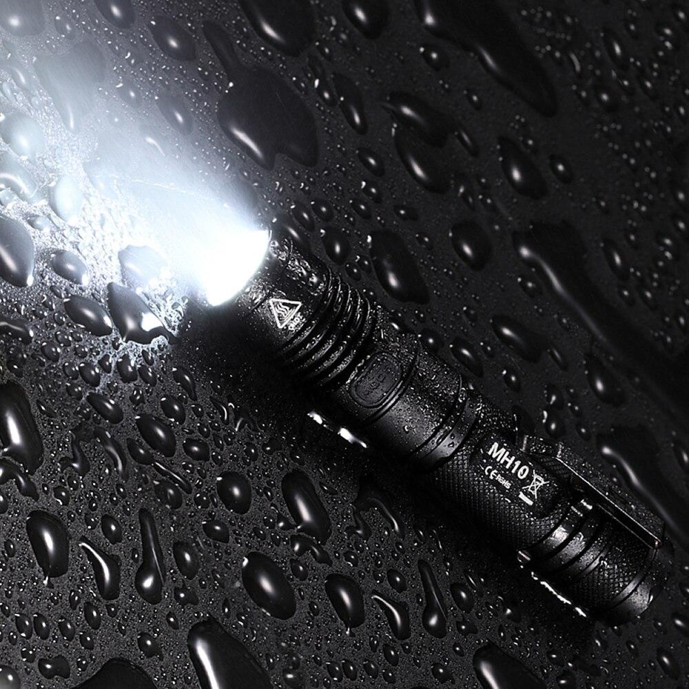 Оптовая продажа NITECORE MH10 1000 люмен светодиодный наружный портативный фонарик Тактический USB Перезаряжаемый 3400 мАч 18650 аккумулятор бесплатная доставка - 3