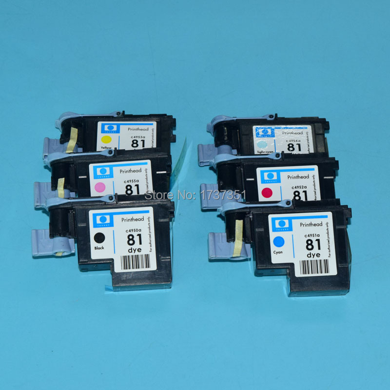 1 set C4950A C4951A C4952A C4953A C4954A C4955A HP81 remanufactured Printhead for HP Designjet 5000 5500 print head