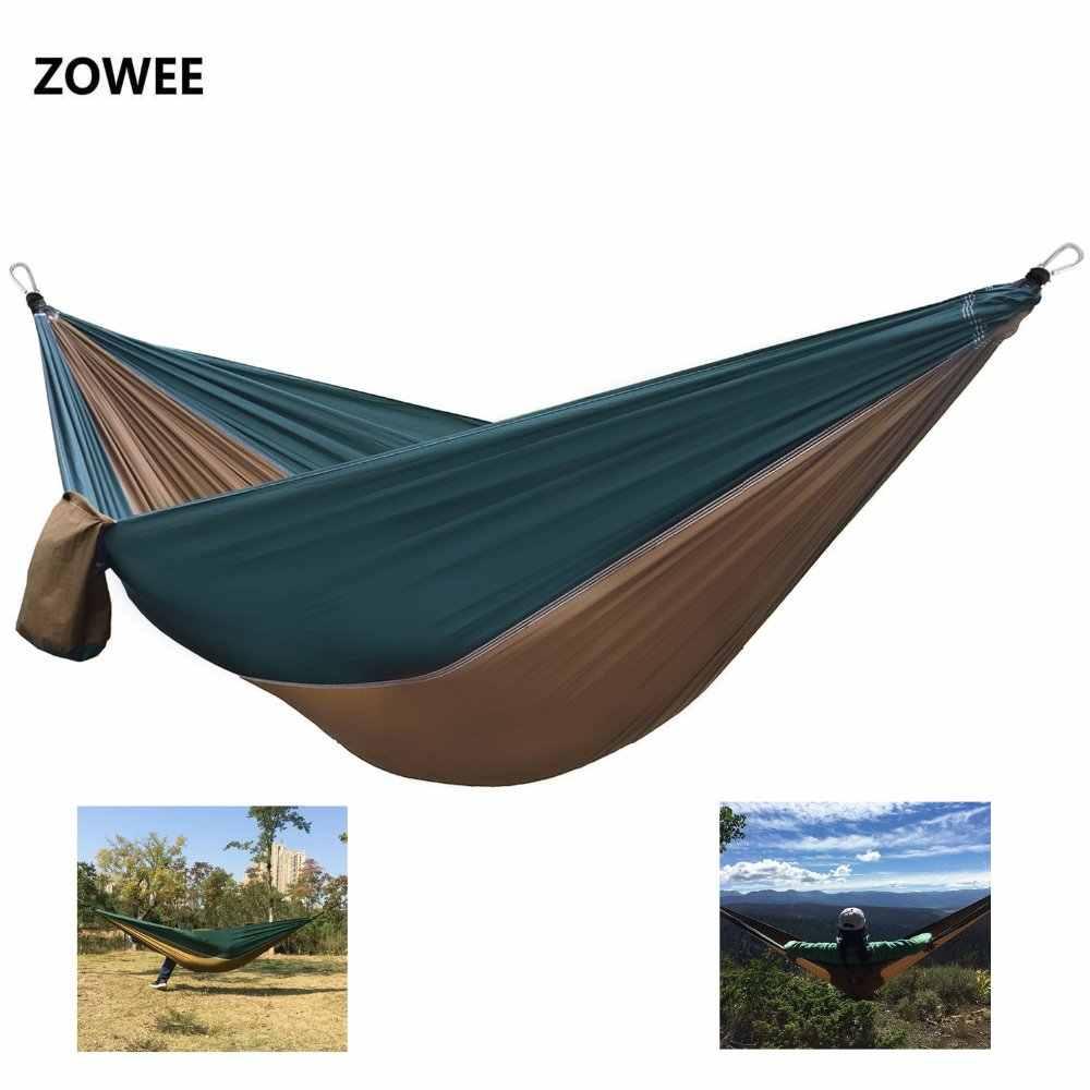 Lit Exterieur Design 2019 hamacs parachute portables pour 2 personnes lit de couchage extérieur  camping balançoire portable ultra-léger design 260*140 cm