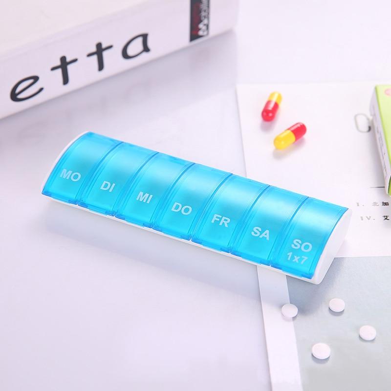 Pílula Cases e Divisores armazenamento organizador do comprimido semanal Modelo Número : Ha0173