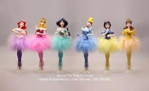 Image 2 - Disney Princess Cinderella Snow White ball pen 6pcs/set 19cm Action Figure Decoration PVC Collection Figurine Toys model gift