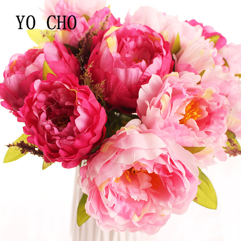 Yo Cho 7 Heads Bunch New Silk Simulation Artificial Flower