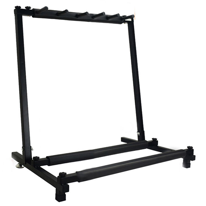 New 5 Way Multi Folding Guitar Rack Stand By Chord For Electric Bass Acoustic
