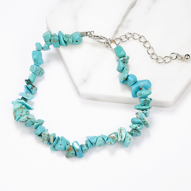 brixini.com - Bohemian Turquoise Bead Tassel Double Bracelets