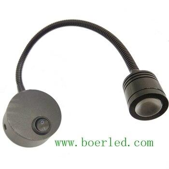 1 Вт LED 12 В 24 В 110 В 220 В Гусенек светодиодный изголовье бра