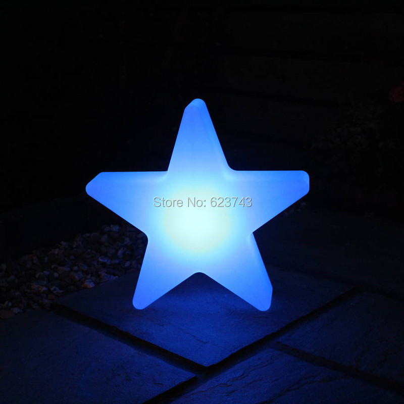 1 piece outdoor landscape waterproof colorful recharge Star Glow LED Luminous Light star led lamp for Christmas showing lighting led star ca 410