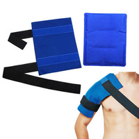 Flexible Gel Ice Pack Wrap with Elastic Straps Therapy for Muscle Pain Bruises Injuries ASD88