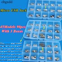 Cltgxdd 45 модели 90 шт. Micro USB разъем 5 P 5pin зарядка через USB разъем Mix SMD DIP V8 Порты и разъёмы зарядки вилка данных