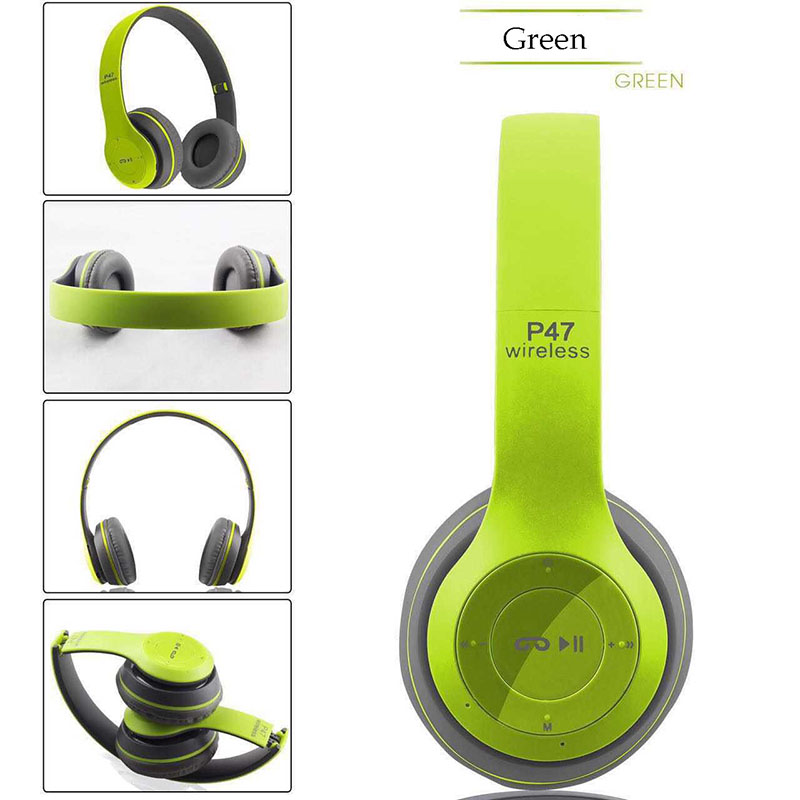 DOITOP P47 Bluetooth Headphone Wireless Headset Headband Foldable Stereo Noise Cancelling Earphone With Support TF Card FM Radio v4 1 bluetooth headset with fm business style with noise cancelling headphone earphone with wireless take a photo function