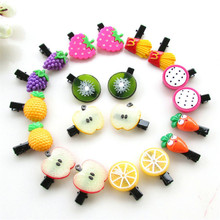 10Pcs/lot Korean New Fruit Hair Clip Kids Headband Acrylic Sweet Accessories Boutique Baby Barrettes Girl Gift Duck
