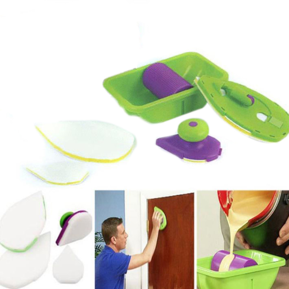 2017 ABS Paint Roller and Tray Set Painting Brush Point N Paint Household Wall Decorative Tool